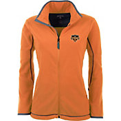 Antigua Women's Houston Dynamo Orange Ice Full-Zip Fleece Jacket