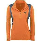 Antigua Women's Houston Dynamo Orange Delta Quarter-Zip Pullover Top