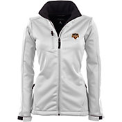 Antigua Women's Houston Dynamo Traverse White Soft-Shell Full-Zip Jacket