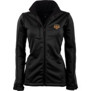 Antigua Women's Houston Dynamo Traverse Black Soft-Shell Full-Zip Jacket