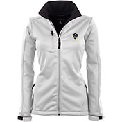 Antigua Women's Los Angeles Galaxy Traverse White Soft-Shell Full-Zip Jacket