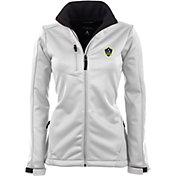 Antigua Women's Los Angeles Galaxy Traverse White Soft-Shell Full-Zip Jacket