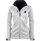 Antigua Women's Montreal Impact Traverse White Soft-Shell Full-Zip Jacket