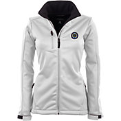 Antigua Women's Philadelphia Union Traverse White Soft-Shell Full-Zip Jacket