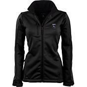 Antigua Women's San Jose Earthquakes Traverse Black Soft-Shell Full-Zip Jacket