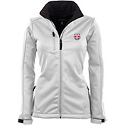 Antigua Women's New York Red Bulls Traverse White Soft-Shell Full-Zip Jacket