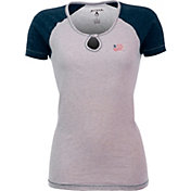 Antigua Women's New England Revolution Crush Grey/Navy T-Shirt