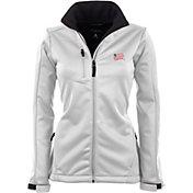 Antigua Women's New England Revolution Traverse White Soft-Shell Full-Zip Jacket