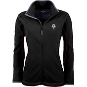 Antigua Women's Seattle Sounders Black Ice Full-Zip Fleece Jacket