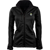 Antigua Women's Seattle Sounders Traverse Black Soft-Shell Full-Zip Jacket