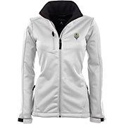 Antigua Women's Seattle Sounders Traverse White Soft-Shell Full-Zip Jacket