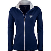 Antigua Women's Sporting Kansas City Navy Leader Full-Zip Jacket