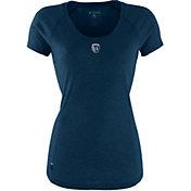 Antigua Women's Sporting Kansas City Pep Navy T-Shirt