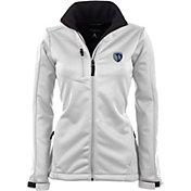 Antigua Women's Sporting Kansas City Traverse White Soft-Shell Full-Zip Jacket
