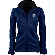 Antigua Women's Sporting Kansas City Traverse Navy Soft-Shell Full-Zip Jacket
