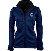 Antigua Women's Sporting Kansas City Traverse Navy Soft-Shell Full-Zip Jacket