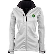 Antigua Women's Portland Timbers Traverse White Soft-Shell Full-Zip Jacket