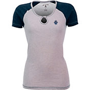 Antigua Women's Vancouver Whitecaps Crush Grey/Navy T-Shirt