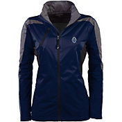 Antigua Women's Vancouver Whitecaps Navy Discover Full-Zip Jacket