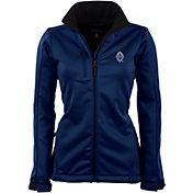Antigua Women's Vancouver Whitecaps Traverse Navy Soft-Shell Full-Zip Jacket