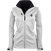 Antigua Women's Vancouver Whitecaps Traverse White Soft-Shell Full-Zip Jacket