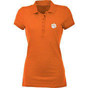 Antigua Women's Clemson Tigers Orange Spark Polo
