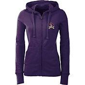Antigua Women's East Carolina Pirates Purple Full-Zip Hoodie