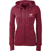 Antigua Women's Virginia Tech Hokies Maroon Full-Zip Hoodie