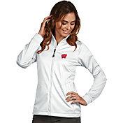 Antigua Women's Wisconsin Badgers White Performance Golf Jacket