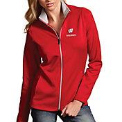 Antigua Women's Wisconsin Badgers Red Leader Full-Zip Jacket