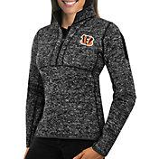 Antigua Women's Cincinnati Bengals Fortune Black Pullover Jacket