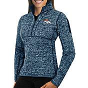 Antigua Women's Denver Broncos Fortune Navy Pullover Jacket