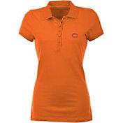 Antigua Women's Chicago Bears Orange Spark Polo
