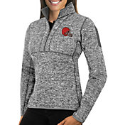 Antigua Women's Cleveland Browns Fortune Grey Pullover Jacket