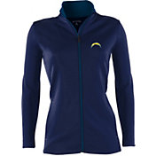 Antigua Women's San Diego Chargers Leader Navy Full-Zip Jacket