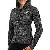 Antigua Women's Philadelphia Eagles Fortune Black Pullover Jacket