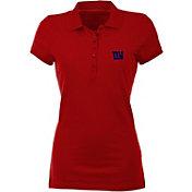 Antigua Women's New York Giants Red Spark Polo