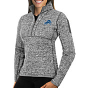 Antigua Women's Detroit Lions Fortune Grey Pullover Jacket