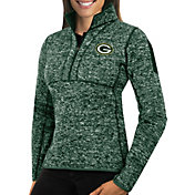 Antigua Women's Green Bay Packers Fortune Green Pullover Jacket