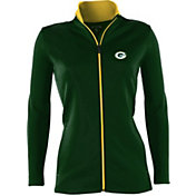 Antigua Women's Green Bay Packers Leader Full-Zip Green Jacket