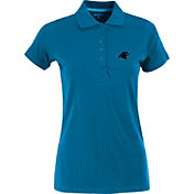 Antigua Women's Carolina Panthers Blue Spark Polo