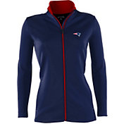 Antigua Women's New England Patriots Leader Full-Zip Navy Jacket