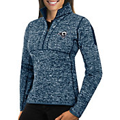 Antigua Women's Los Angeles Rams Fortune Navy Pullover Jacket