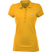 Antigua Women's Pittsburgh Steelers Gold Spark Polo