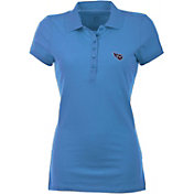 Antigua Women's Tennessee Titans Blue Spark Polo