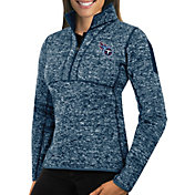 Antigua Women's Tennessee Titans Fortune Navy Pullover Jacket