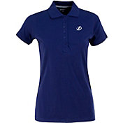 Antigua Women's Tampa Bay Lightning Blue Spark Polo