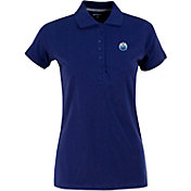 Antigua Women's Edmonton Oilers Royal Blue Spark Polo