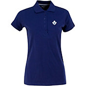 Antigua Women's Toronto Maple Leafs Blue Spark Polo