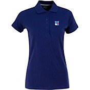 Antigua Women's New York Rangers Blue Spark Polo